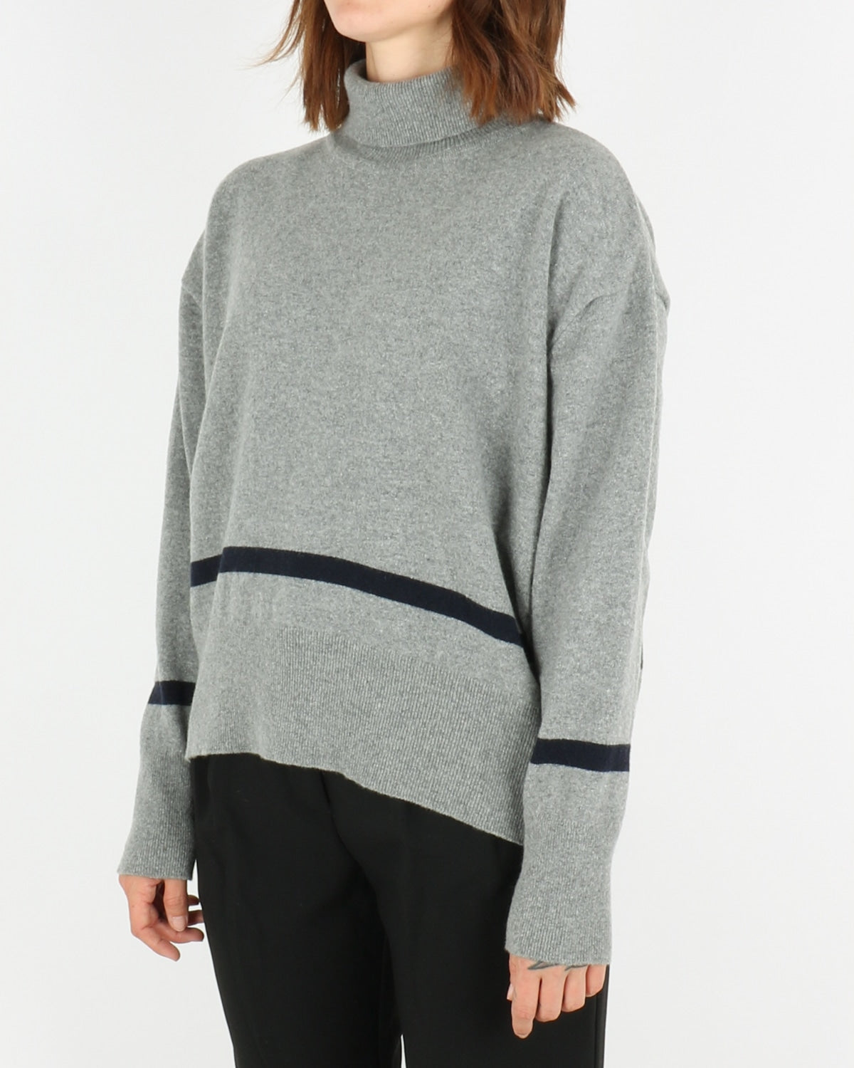 libertine libertine_husky knit_grey melange dark navy_2_4
