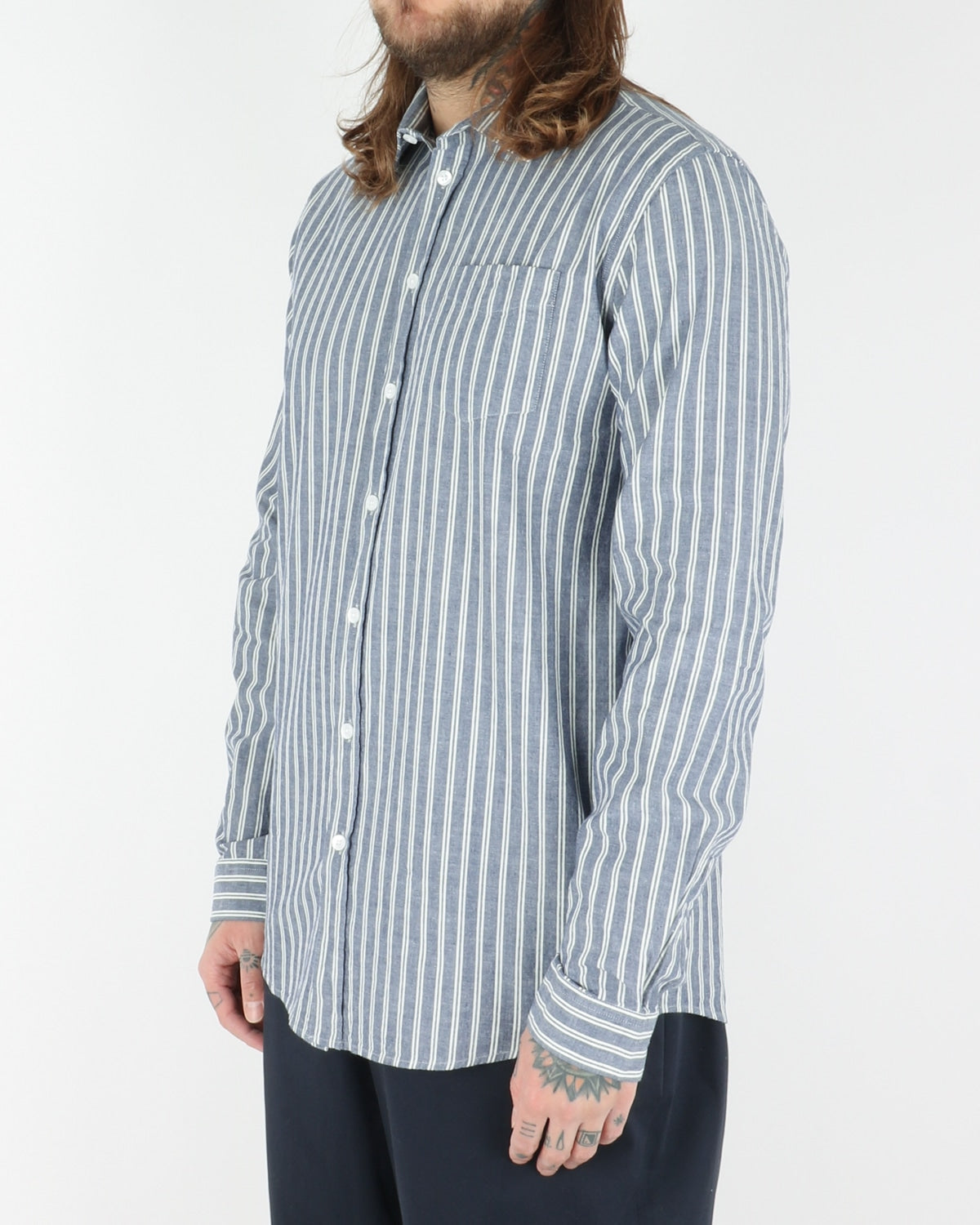 libertine libertine_lynch shirt_navy stripe_view_3_3