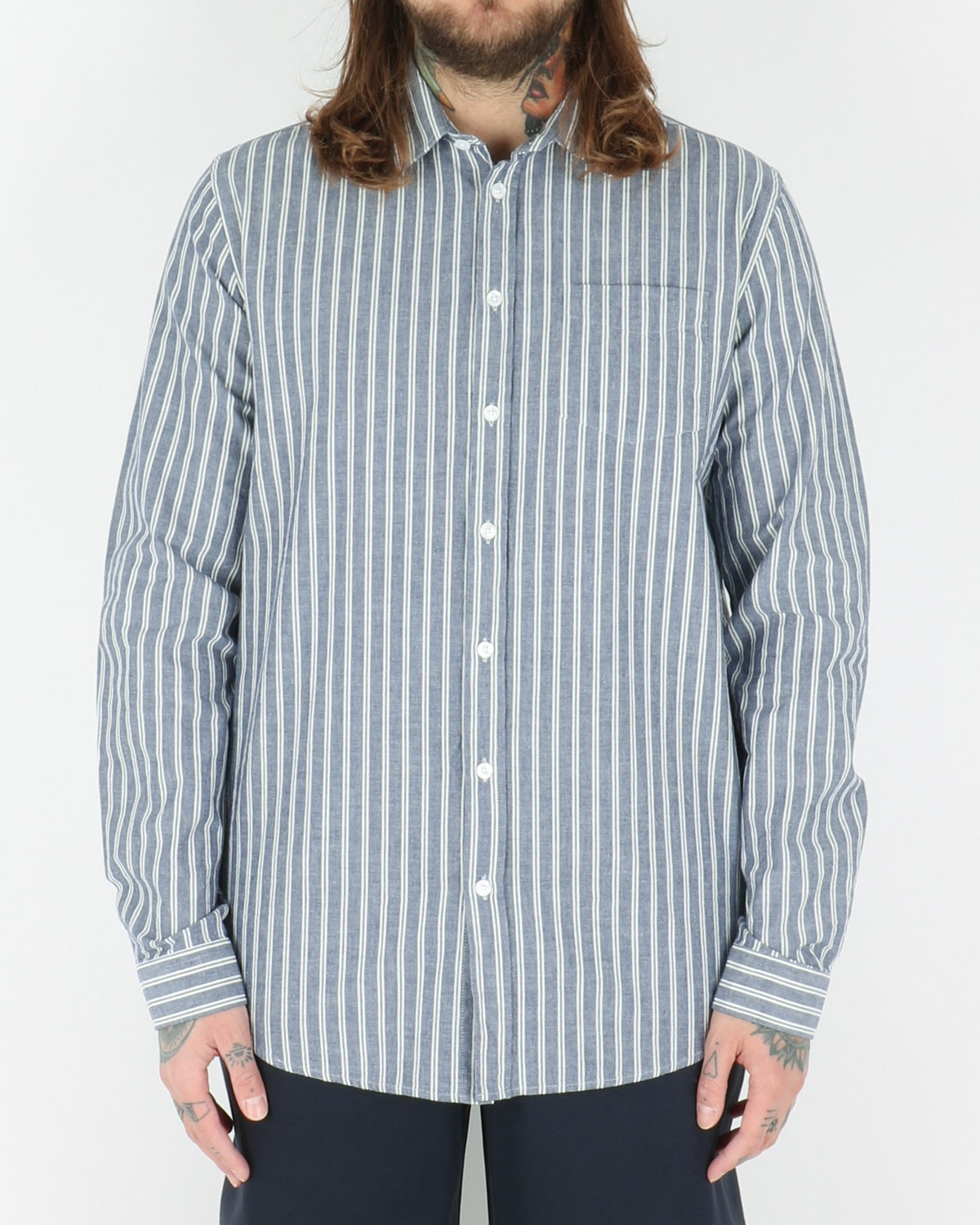 libertine libertine_lynch shirt_navy stripe_view_1_3
