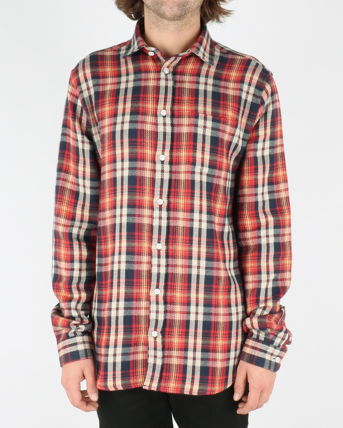 libertine libertine_lynch shirt_red navy check_1_3