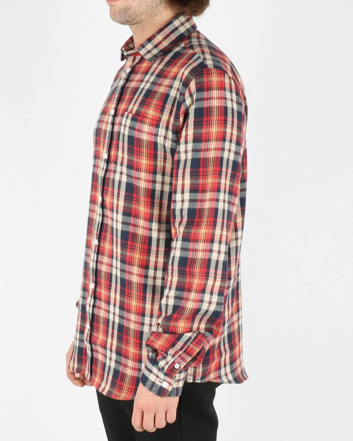 libertine libertine_lynch shirt_red navy check_2_3