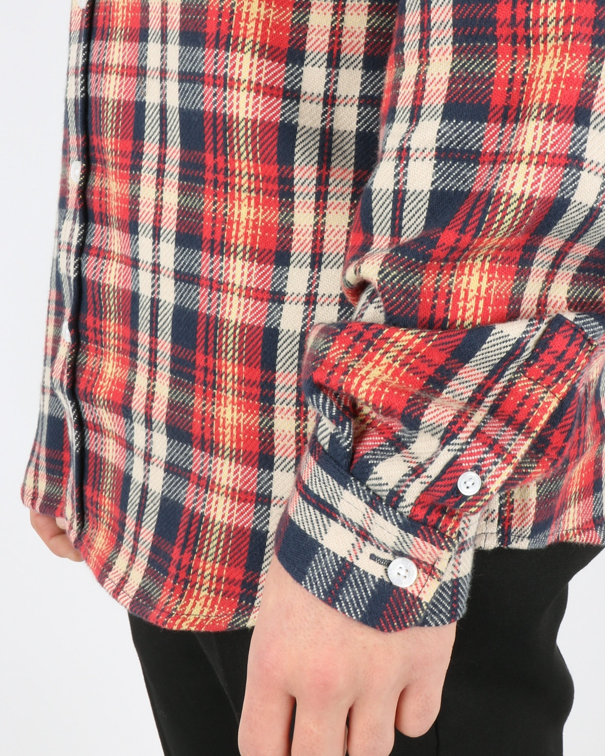 libertine libertine_lynch shirt_red navy check_3_3