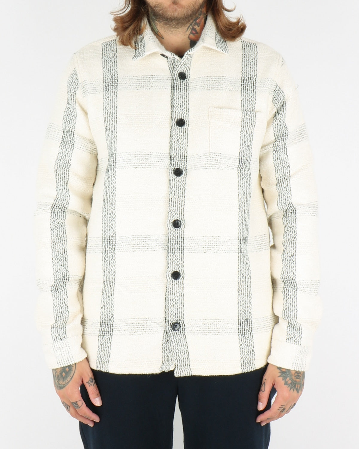 libertine libertine_miracle shirt_offwhite check_view_1_3