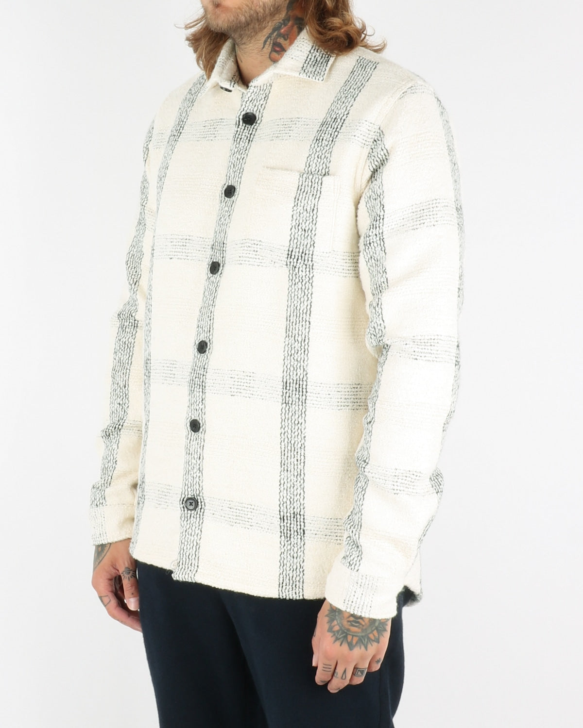libertine libertine_miracle shirt_offwhite check_view_2_3