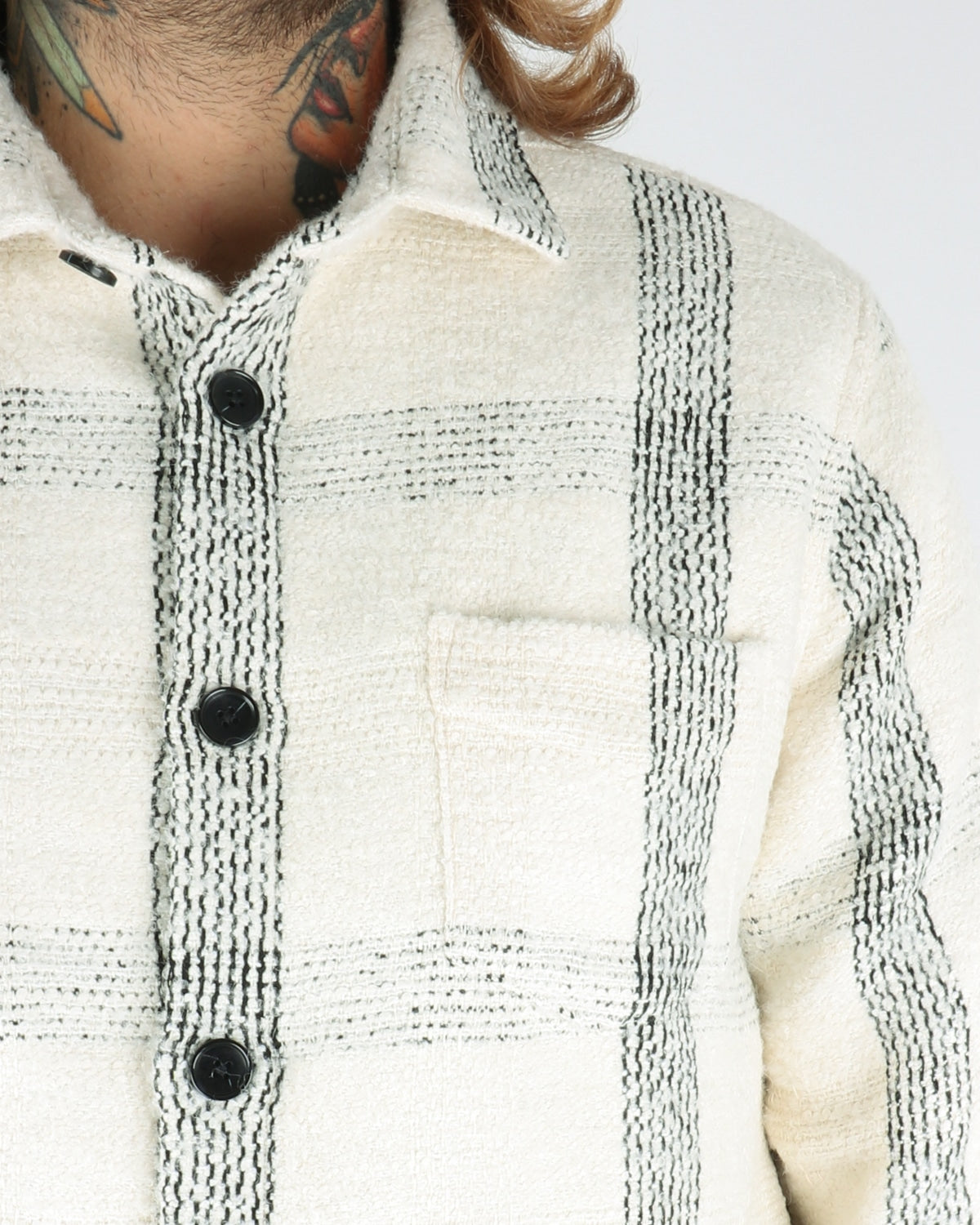 libertine libertine_miracle shirt_offwhite check_view_3_3