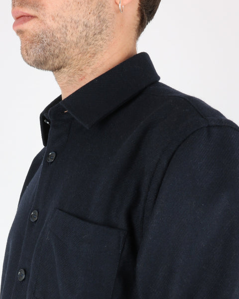 libertine libertine_miracle shirt_dark navy twill_3_4