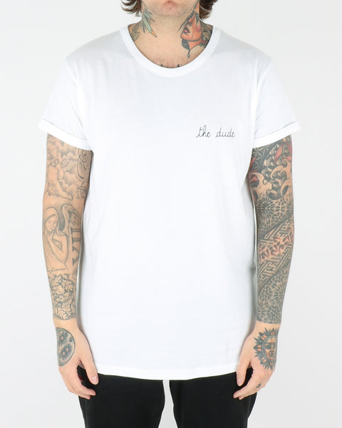 maison labiche_the dude tee t-shirt_white_view_1_2