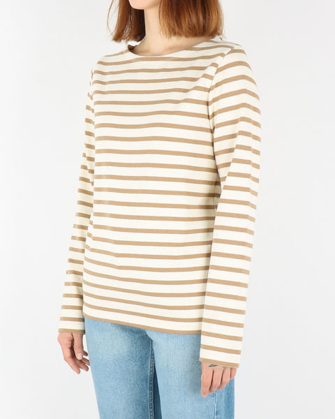norse projects_inge classic stripe sweatshirt_camel_view_2_3