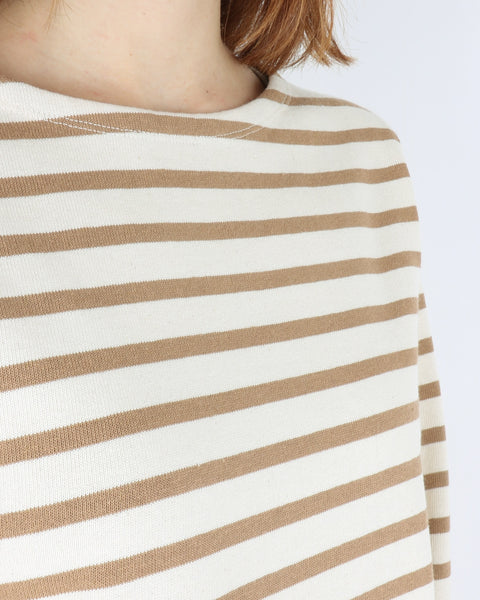 norse projects_inge classic stripe sweatshirt_camel_view_3_3