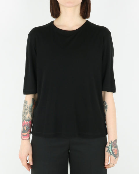 norse projects_rye drapy tencel t-shirt_black_view_1_2