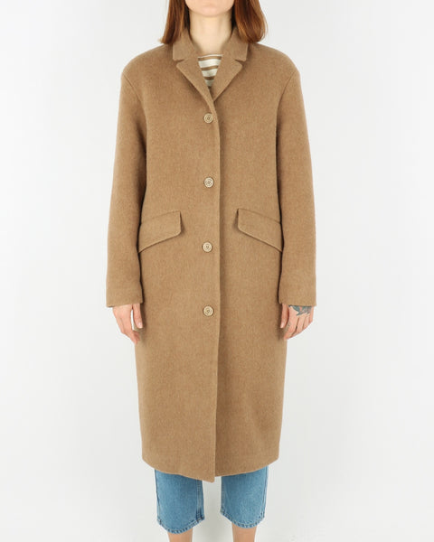 norse projects_sassy hairy woll coat_camel_view_1_3