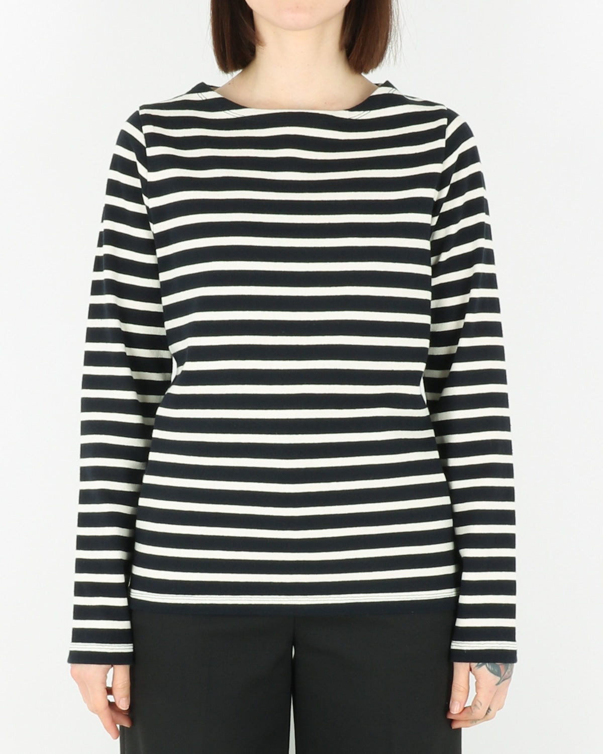 norse projects women_inge classic stripe_dark navy_view_1_2
