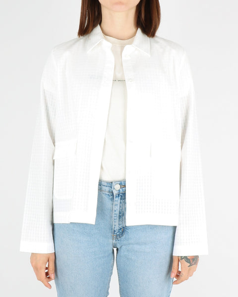 norse projects women_silkeborg tonal check shirt_white_view_1_4