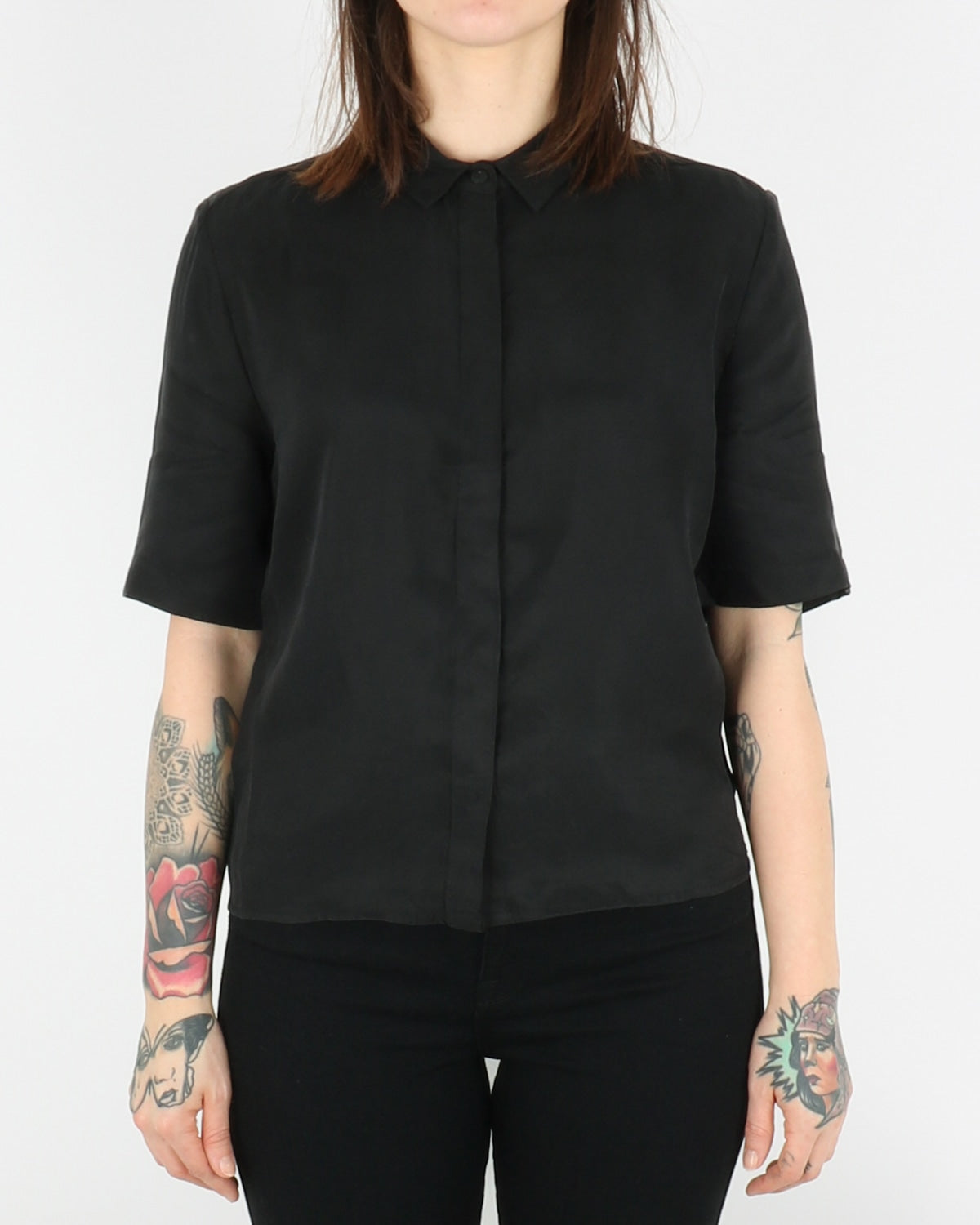 pop cph_cupro & silk boxy shirt_black_1_3