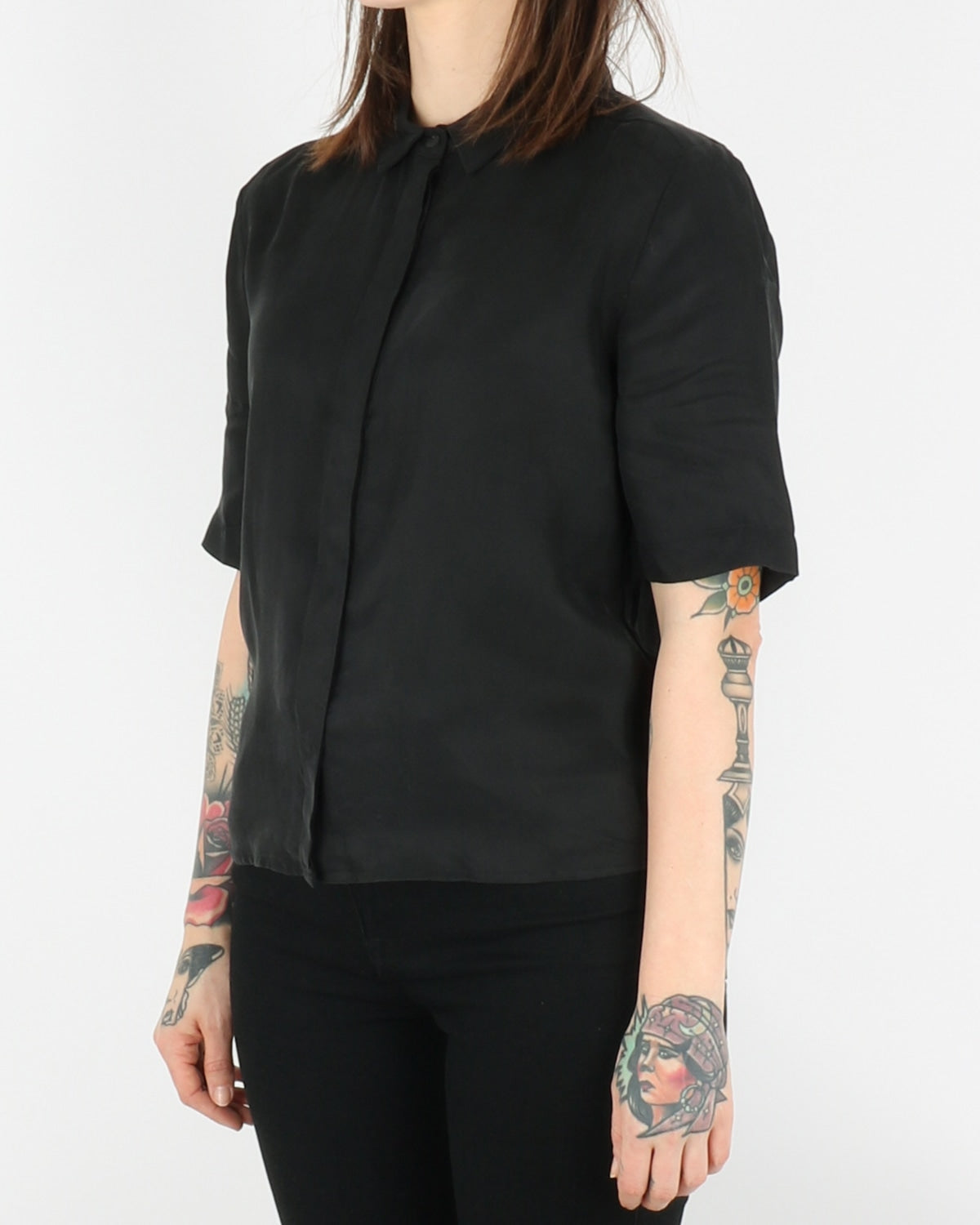 pop cph_cupro & silk boxy shirt_black_2_3