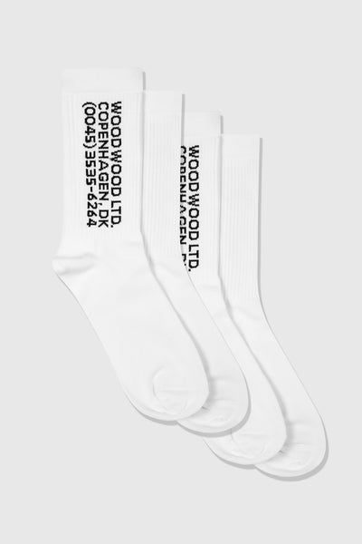 Gail 2- Pack Socks, bright white