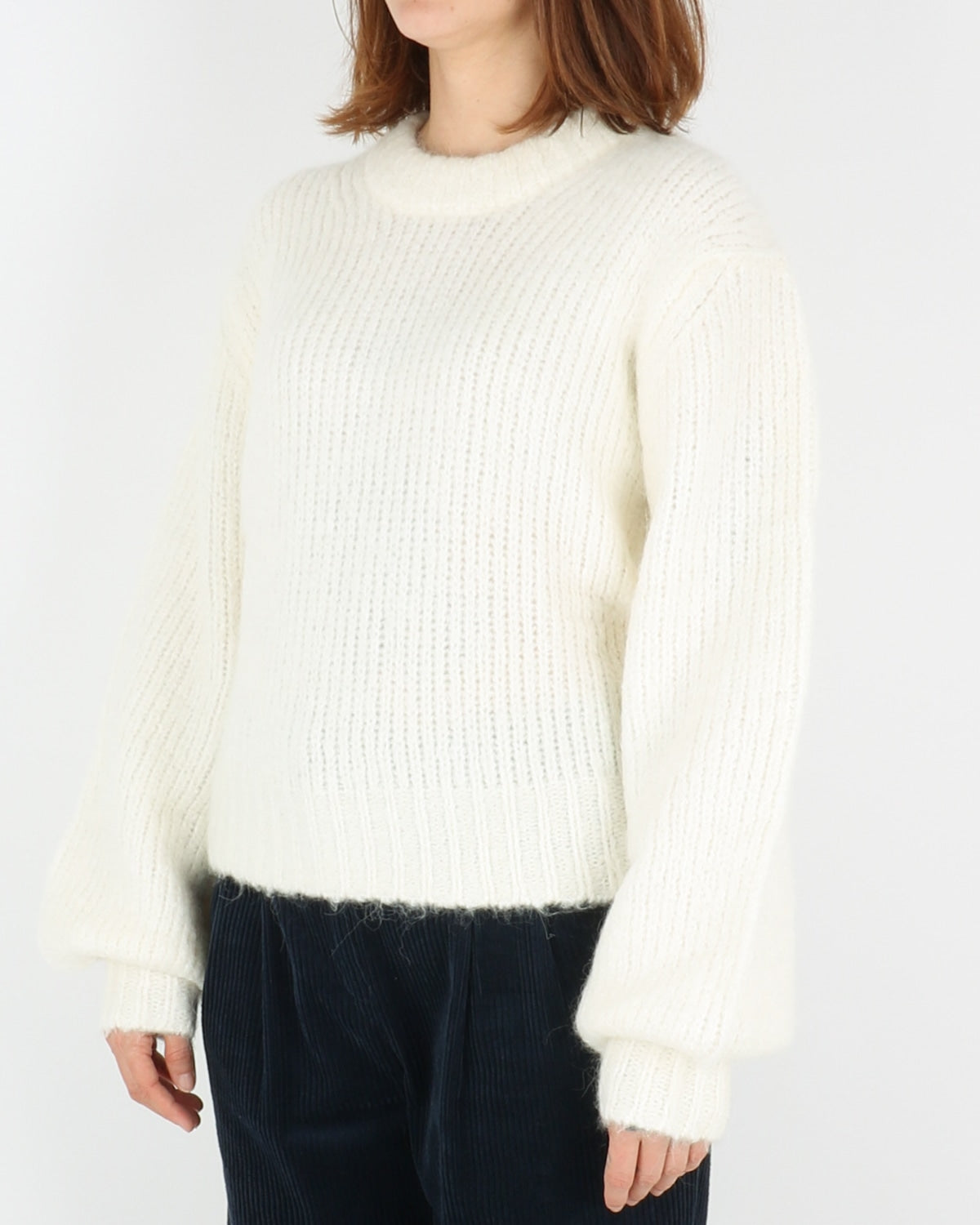 samsoe samsoe_abby crew neck_clear cream_2_4