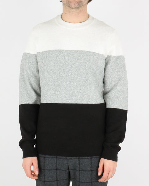 samsoe samsoe_hubert crew neck_grey mel stripe_1_4