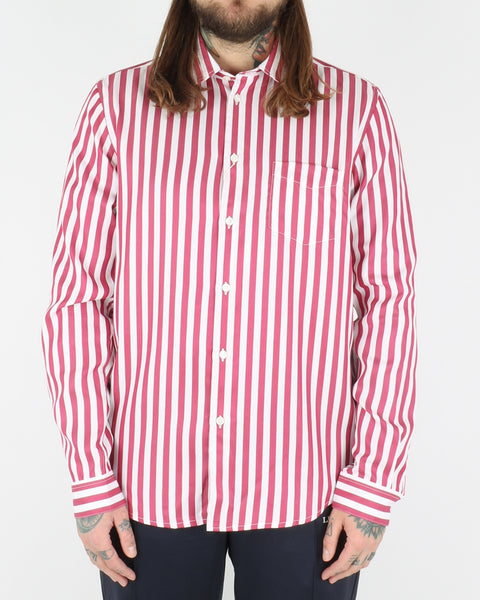 samsoe samsoe_liam shirt_brick red stripes_view_1_3