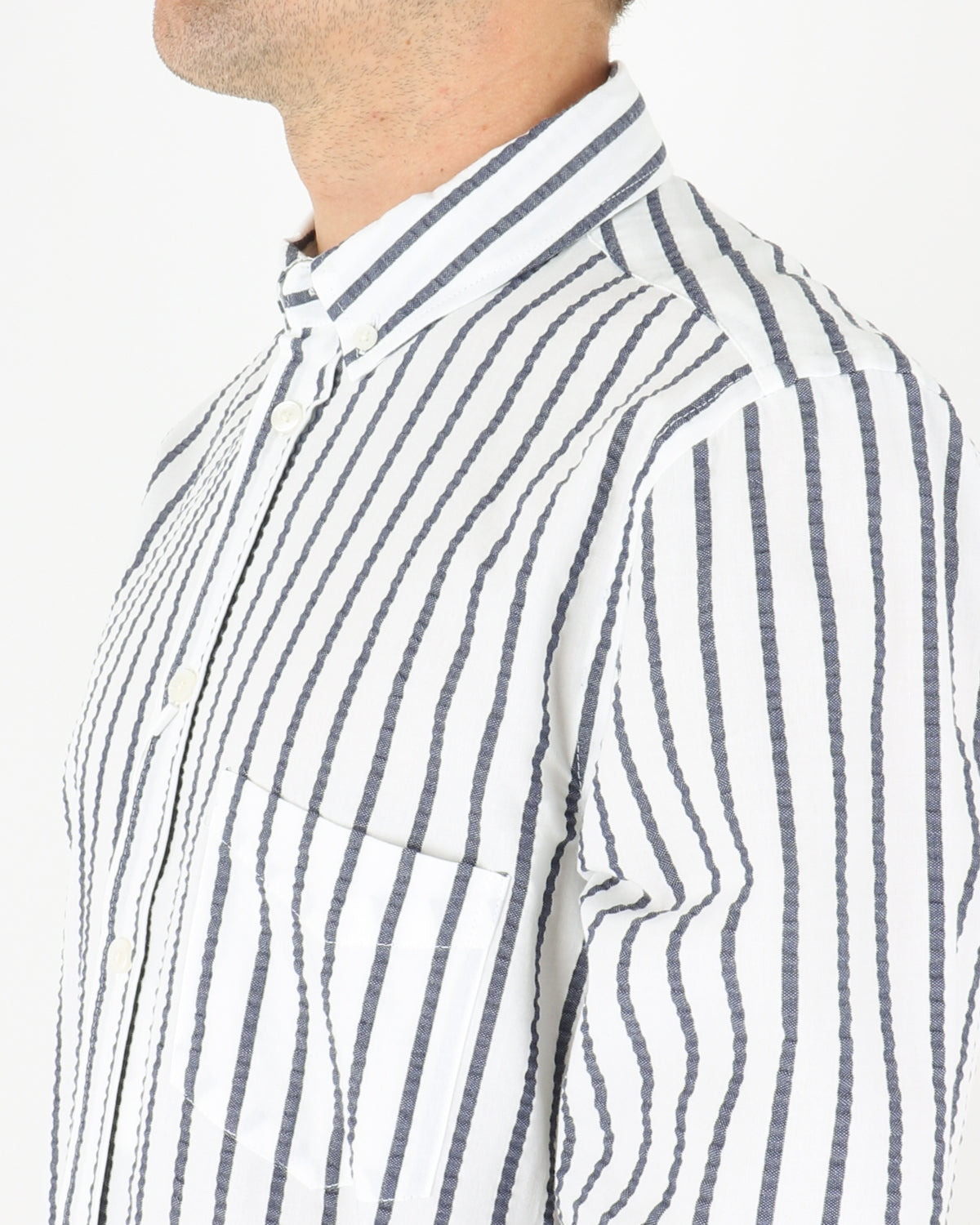 samsoe samsoe_liam ba shirt_blue depths stripe_3_4