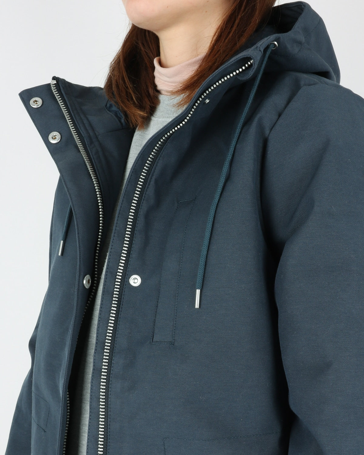 selfhood_77092 katrine jacket_navy_view_3_4