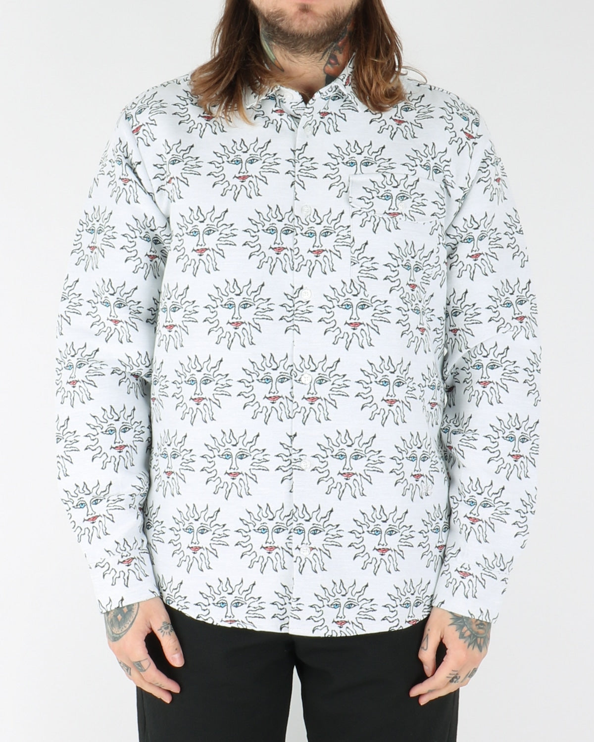 soulland_burke western shirt_white/black_view_1_3