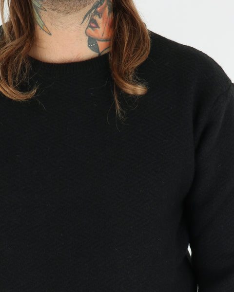 soulland_cassidy herringbone sweater_black_view_3_3