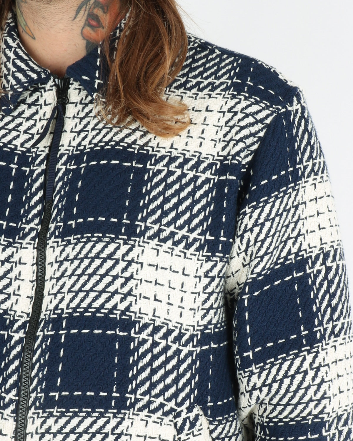 soulland_mapp light zip jacquard jacket_navy white_view_3_3
