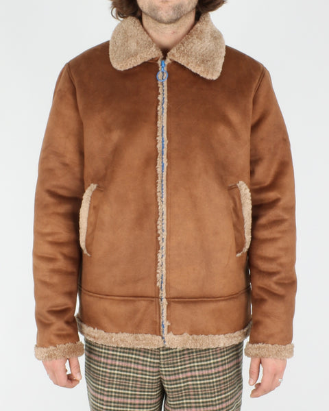 soulland_max faux sherling jacket_brown_1_6