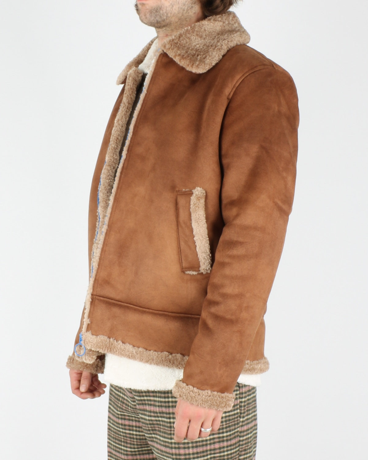 soulland_max faux sherling jacket_brown_2_6
