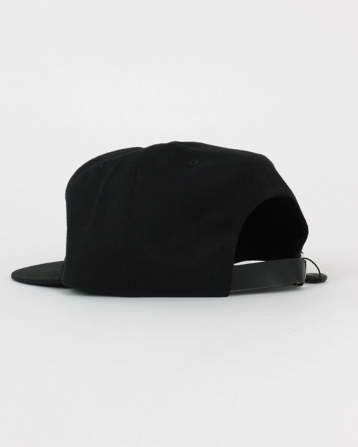 soulland_polle 6 panel cap_black embroidery_black_detail_2_3