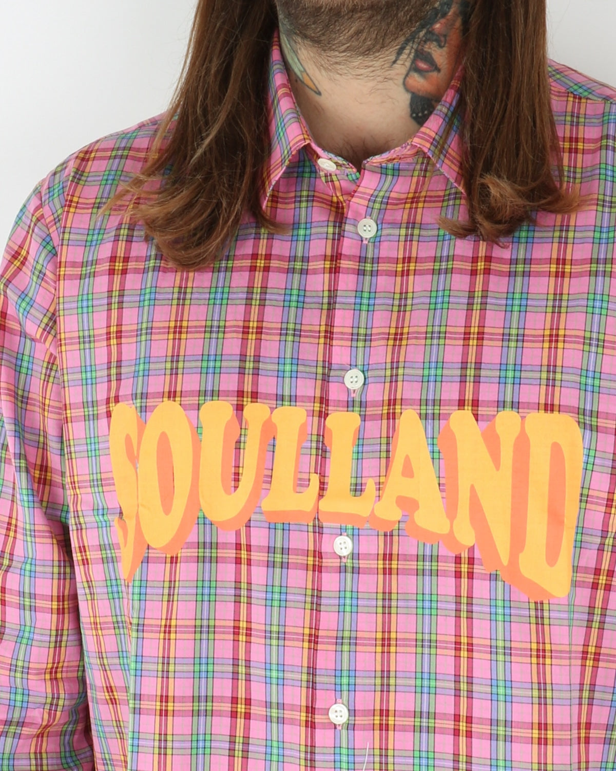 soulland_saul checked shirt_pink_1_3