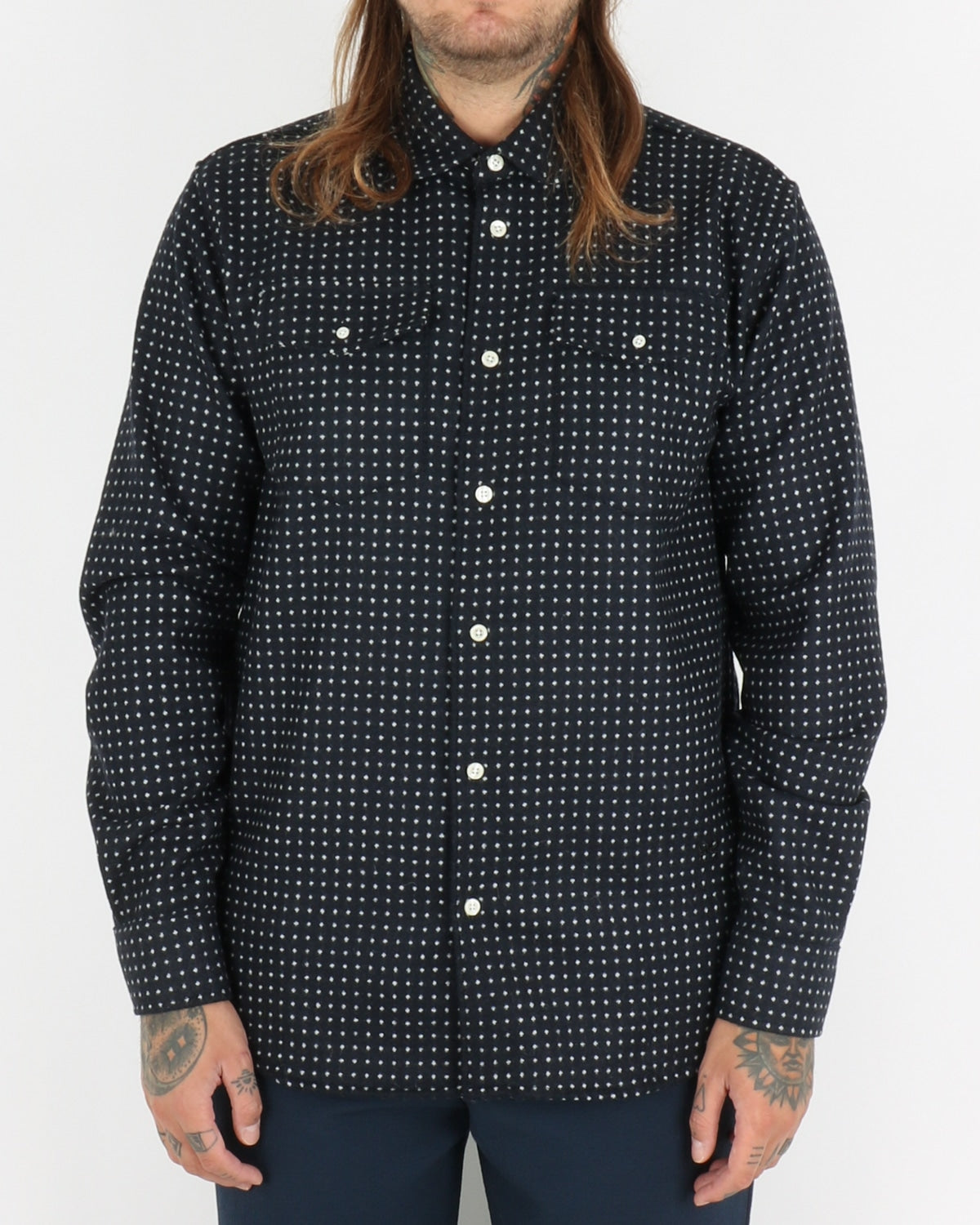soulland_tom dotted western shirt_navy_navy_1_3