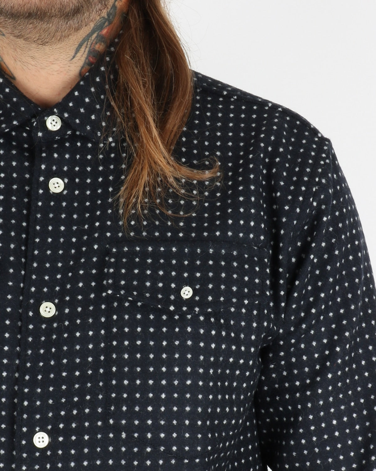 soulland_tom dotted western shirt_navy_view_1_3