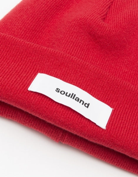 Soulland Villy Beanie, blood red