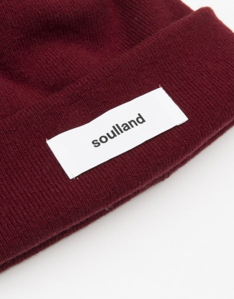 Soulland Villy Beanie, burgundy