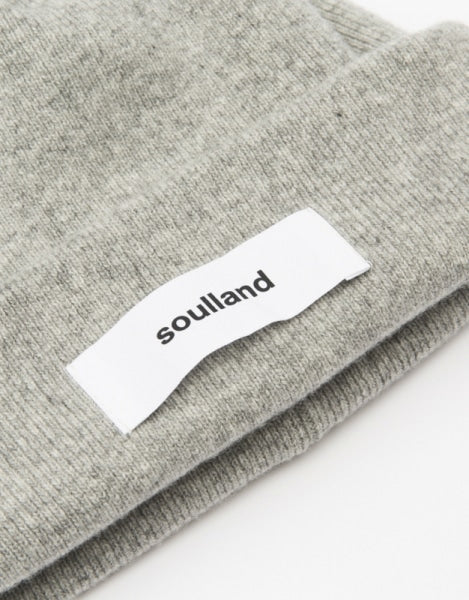 Soulland Villy Beanie, light grey melange
