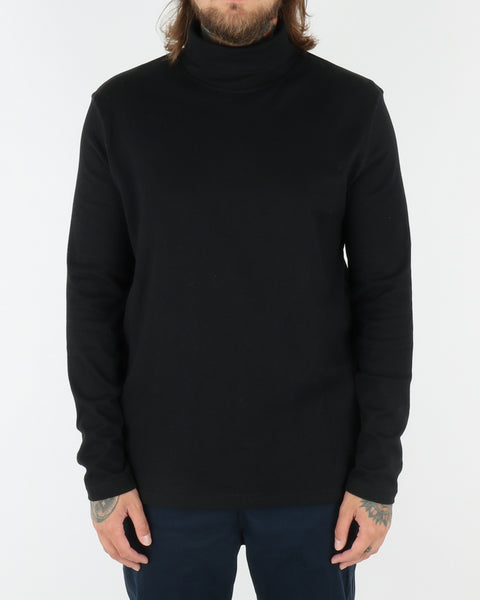 wac we are copenhagen_belushi roll neck_sweatshirt_black_view_1_2