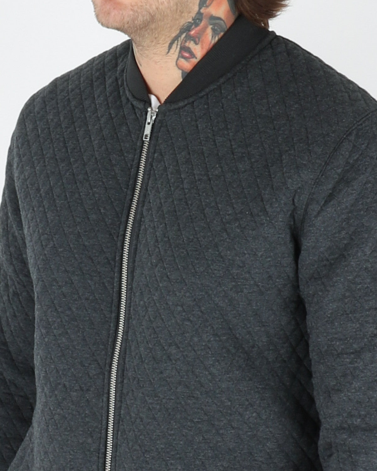wac we are copenhagen_lens zip sweatshirt_dark grey melange_view_3_3