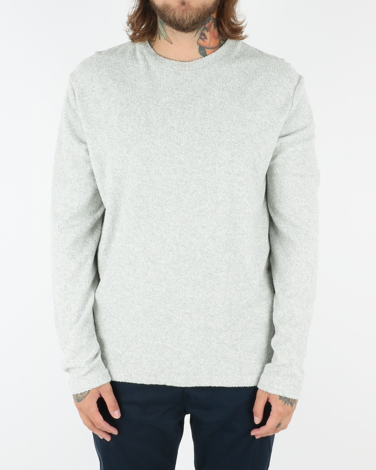 wac we are copenhange_giaccherini_o-neck_longsleeve_ecru melange_view_1_3