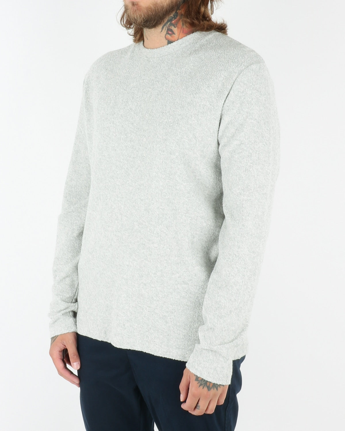wac we are copenhange_giaccherini_o-neck_longsleeve_ecru melange_view_2_3