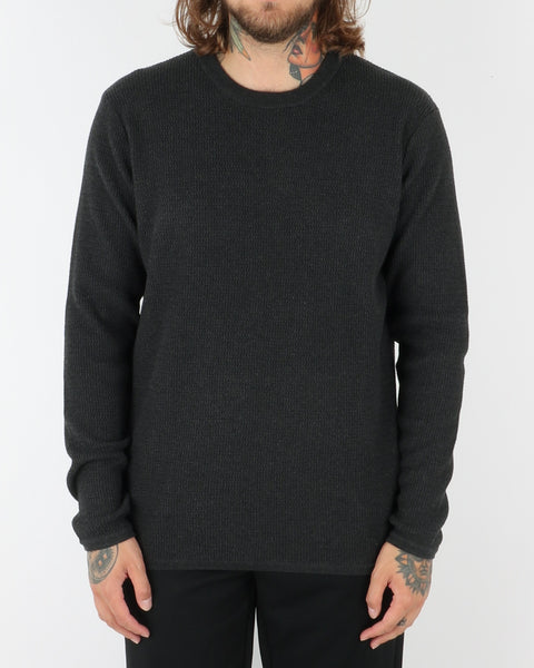 wac_wearecph_albiol_o-neck knit_dark grey melange_view_1_3