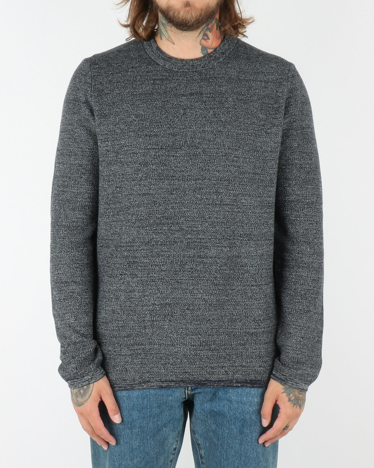 wac_wearecph_hysal_o-neck knit_navy melange_view_1_3