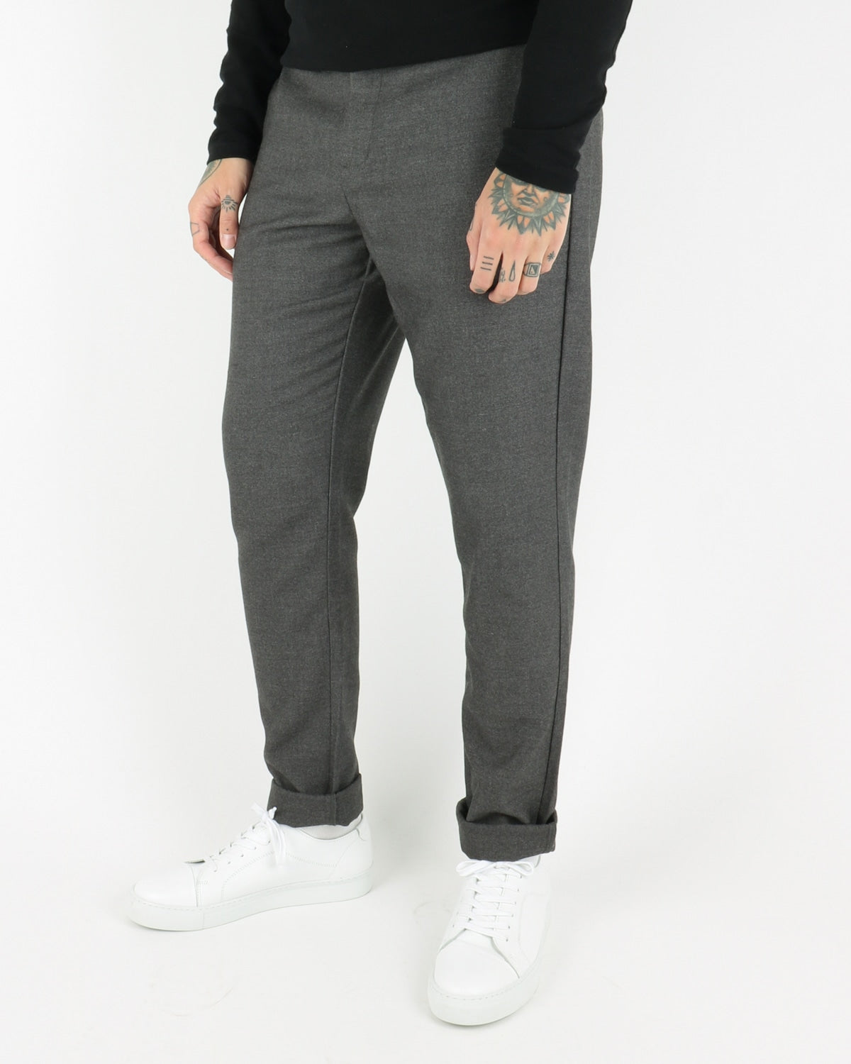 Janzik Pants, dark grey melange