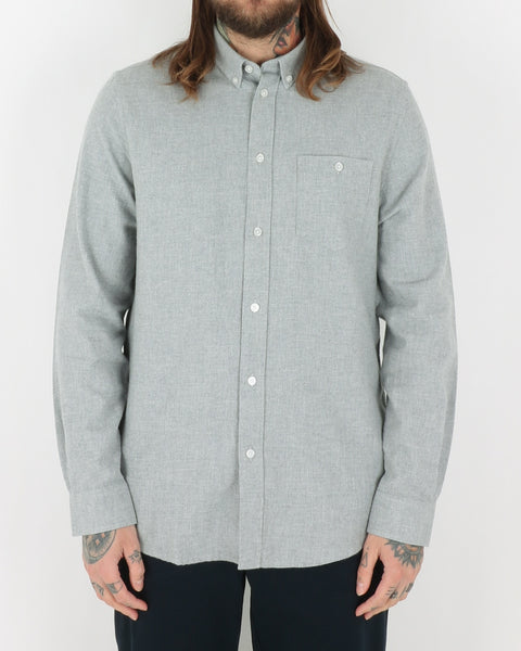 we are copenhagen_davy shirt ls_light grey melange_view_1_3