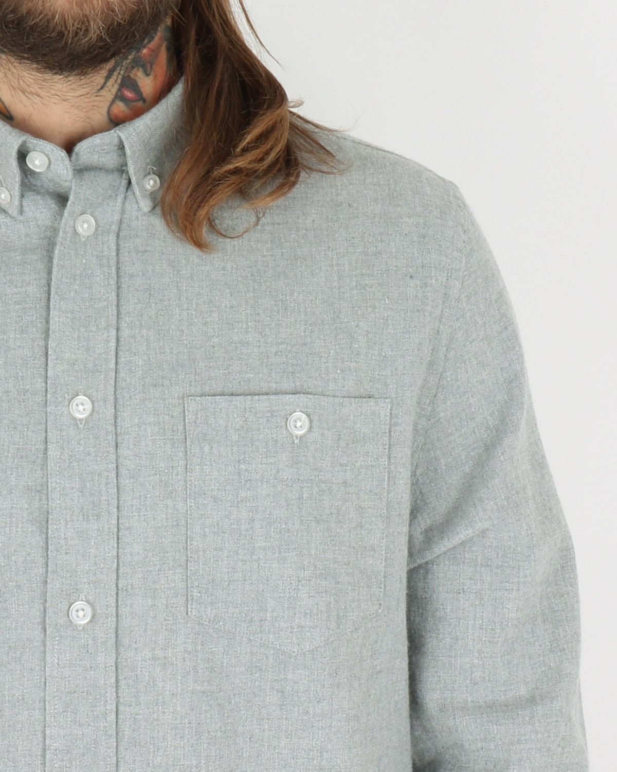 we are copenhagen_davy shirt ls_light grey melange_view_3_3