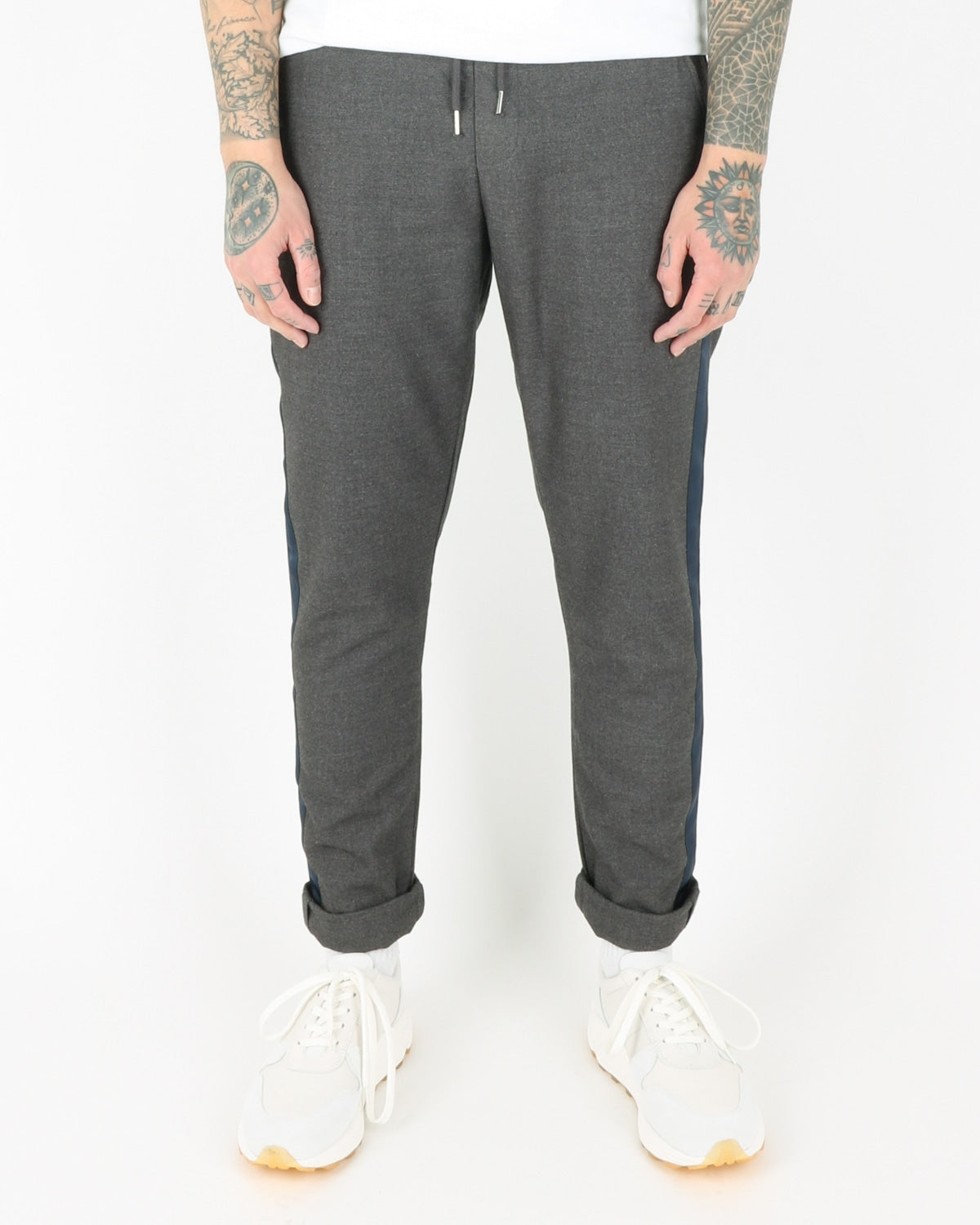 we are copenhagen_janzik tape pants_dark grey melange_view_1_3