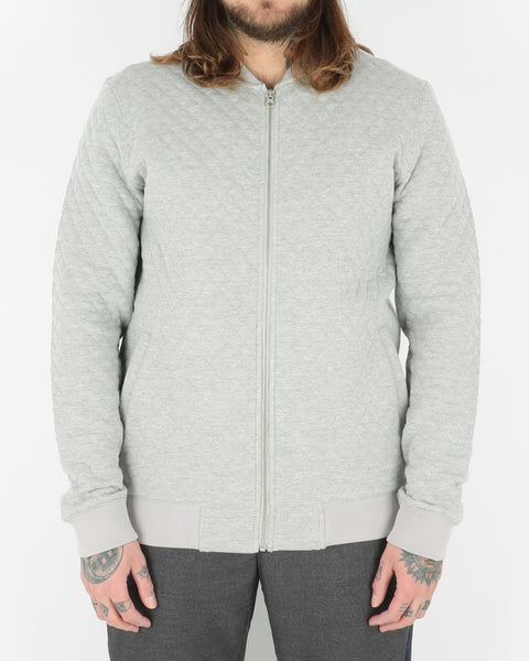 we are copenhagen_lens zip sweatshirt_light grey melange_view_1_2