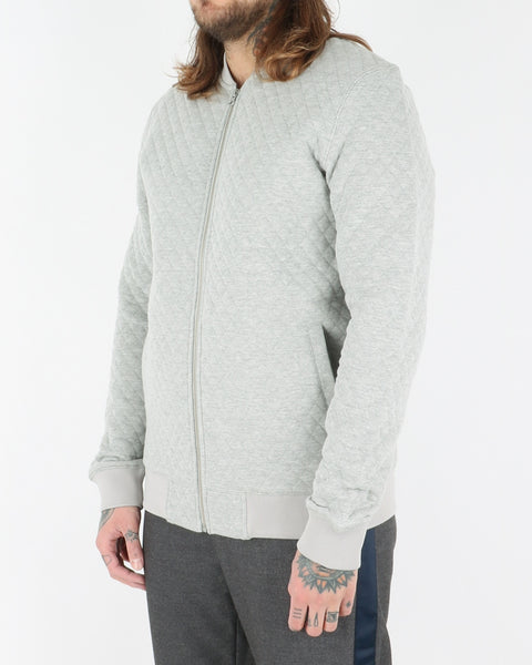 we are copenhagen_lens zip sweatshirt_light grey melange_view_2_2