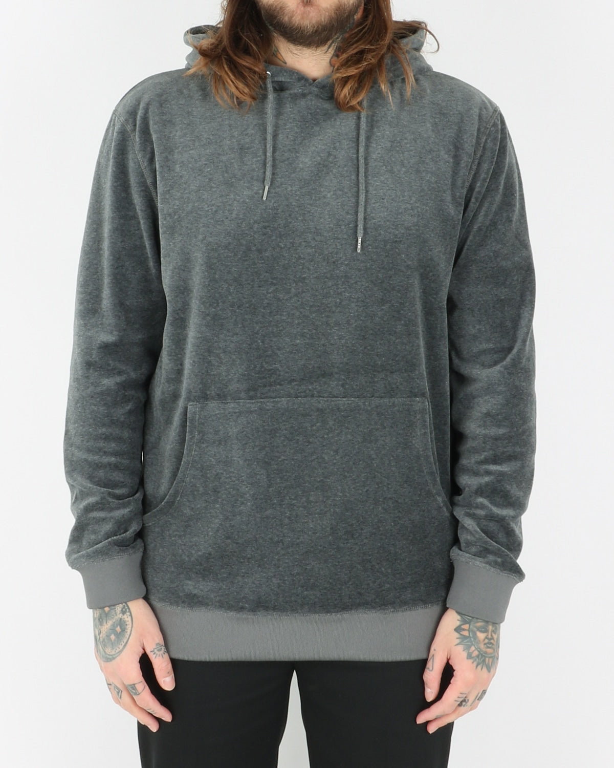 we are copenhagen_ulich hood sweat_dark grey melange_view_1_3